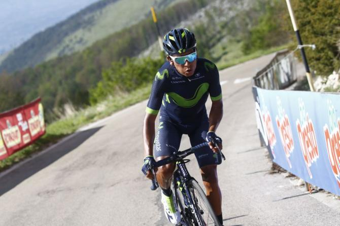 Quintana takes Giro lead as crash slows Thomas and Yates