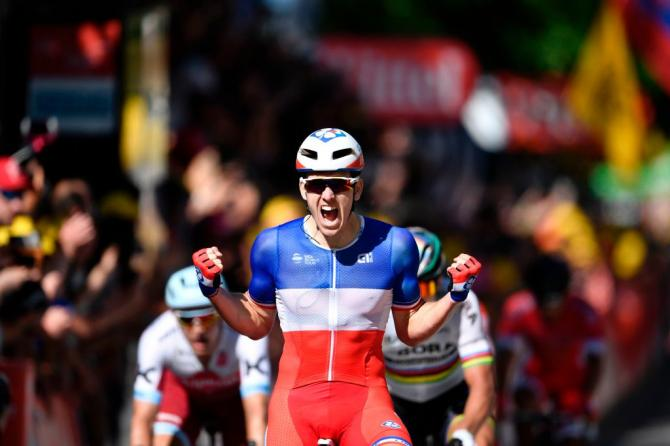 Demare claims maiden win at the Tour de France in a crash-marred stage four